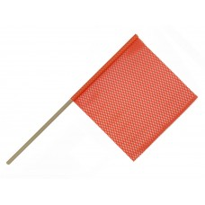 "18"" X 18"" Safety Flag Mesh W/ Wood Dowel Rod 3/4""  X 36"" - Orange"