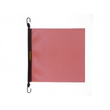 "18"" X 18"" E-Z Hook Safety Flag W/ Bungee Hook, Mesh - Red"
