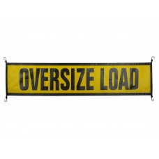 Oversize Load Sign, Mesh with E-Z Hook Bungees - Truck & Trailer