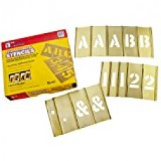 2 in Brass Interlocking Stencils Letters and Numbers 45 Piece Set