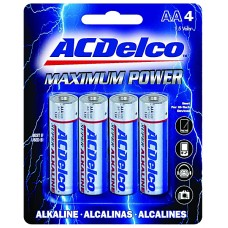 AA Battery AC Delco Alkaline - 4 Pack Blister
