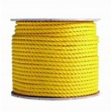 "1/4"" X 100' Roll Poly Rope - Yellow"