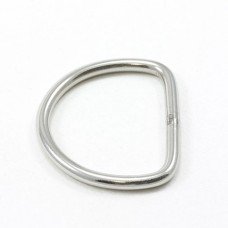"1 1/8"" D-Ring Stainless Steel"