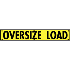 High Intensity Reflective Mesh Oversize Load Banner with Grommets - Truck & Trailer