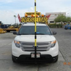 "Wonder Pole®, Pilot Car, High Pole 621 Pro - Yellow (59"" to 23')"