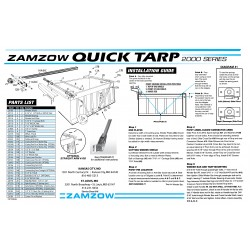 Zamzow Quick Tarp 2000 Series, External Mount Rear Arms Assemby