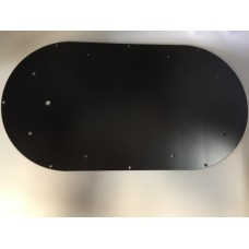 "Mounting Plate For Mini Light Bar - 17.25"" Black Steel"