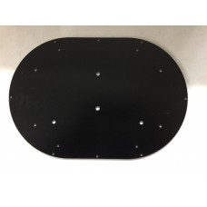 "Mounting Plate For Mini Light Bar - 13.5"" Black Steel"