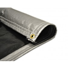 Pool Cover – 6 OZ Black & Silver