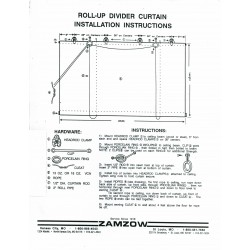 Rollup Divider Curtain Replacement Parts